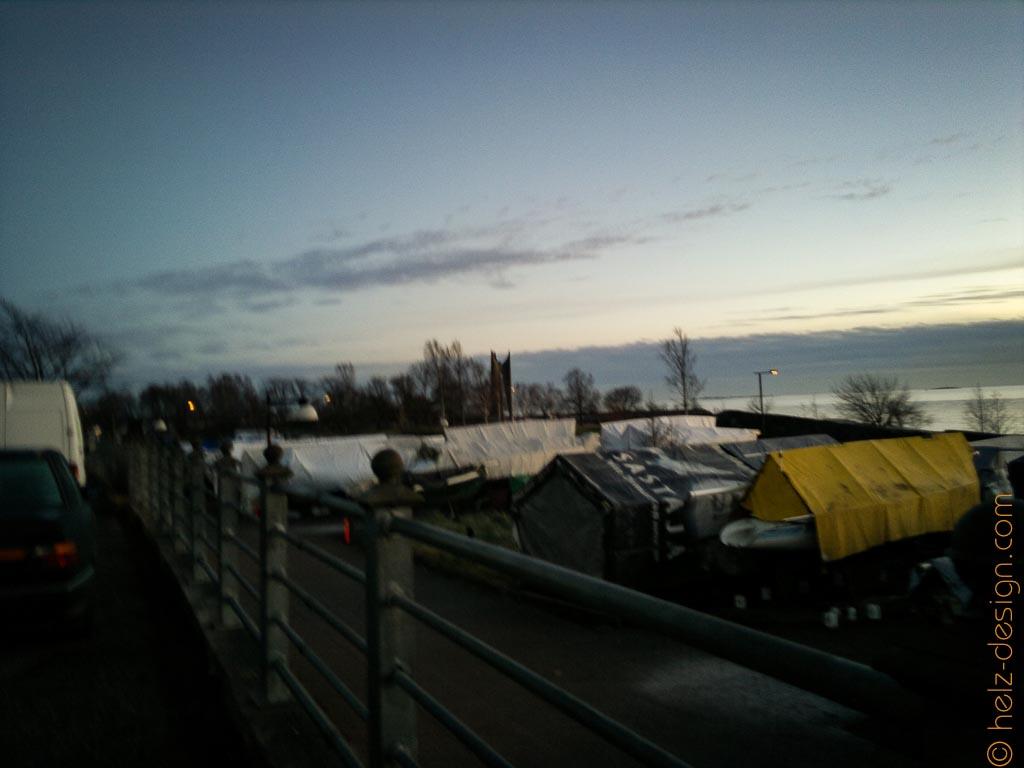 Merikatu – Eiranranta – hier schlafen Boote im Winter