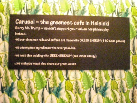 Helsinkis grünstes Cafe